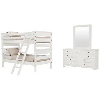 Laguna White Bunk Bed Bedroom