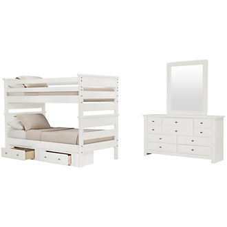 Laguna White Bunk Bed Storage Bedroom
