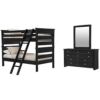 Laguna Black Bunk Bed Bedroom