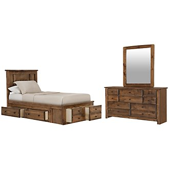 Laguna Dark Tone Platform Storage Bedroom