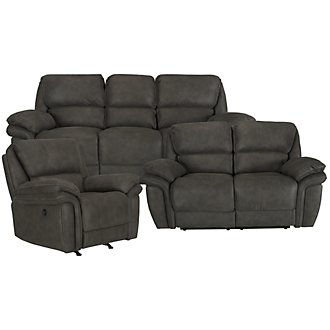 Kirsten Dk Gray Microfiber Power Reclining Living Room