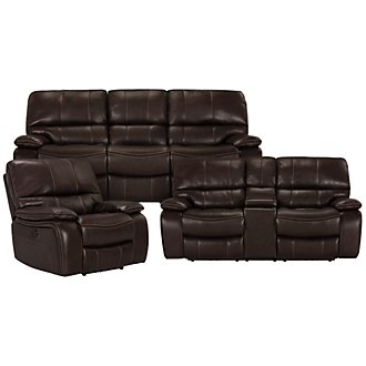 James Dk Brown Microfiber Power Reclining Living Room