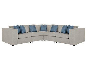 City Furniture Como Lt Beige Fabric Large Sofa