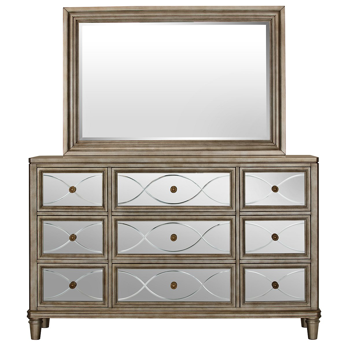 Silver Mirrored Bedroom Furniture Mirror Dressers For Sale