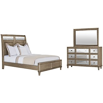 Product Image: Giselle Silver Mirrored Platform Bedroom