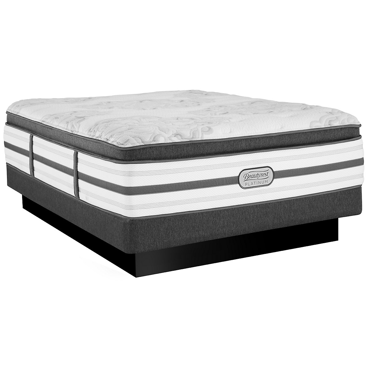 Beautyrest Platinum Katherine Luxury Firm Innerspring Pillow Top Low-Profile Mattress Set