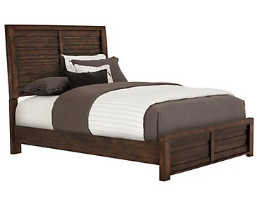 Nolan Dark Tone Panel Bed