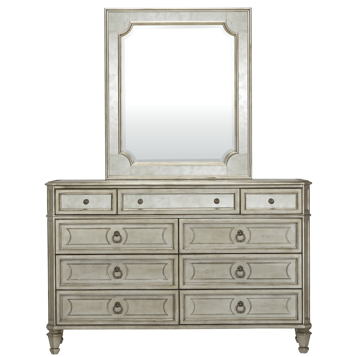 Sloane Silver Dresser   Mirror. City Furniture  Sloane Silver Media Chest