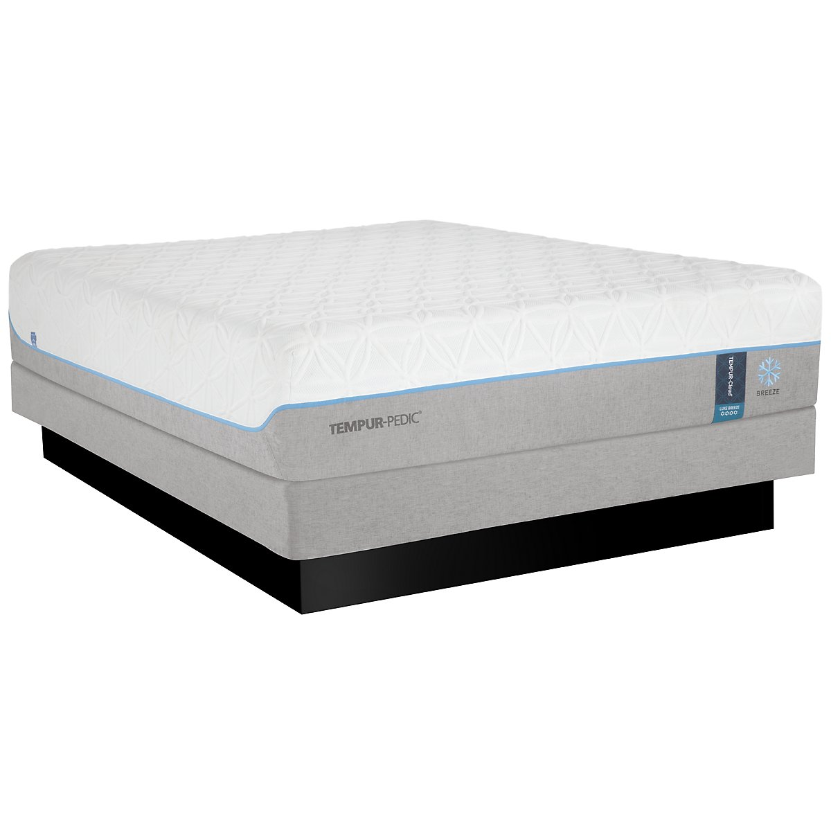 TEMPUR-Cloud® Luxe Breeze 2.0 Low-Profile Mattress Set