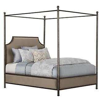Haddie Gray Metal Canopy Bed
