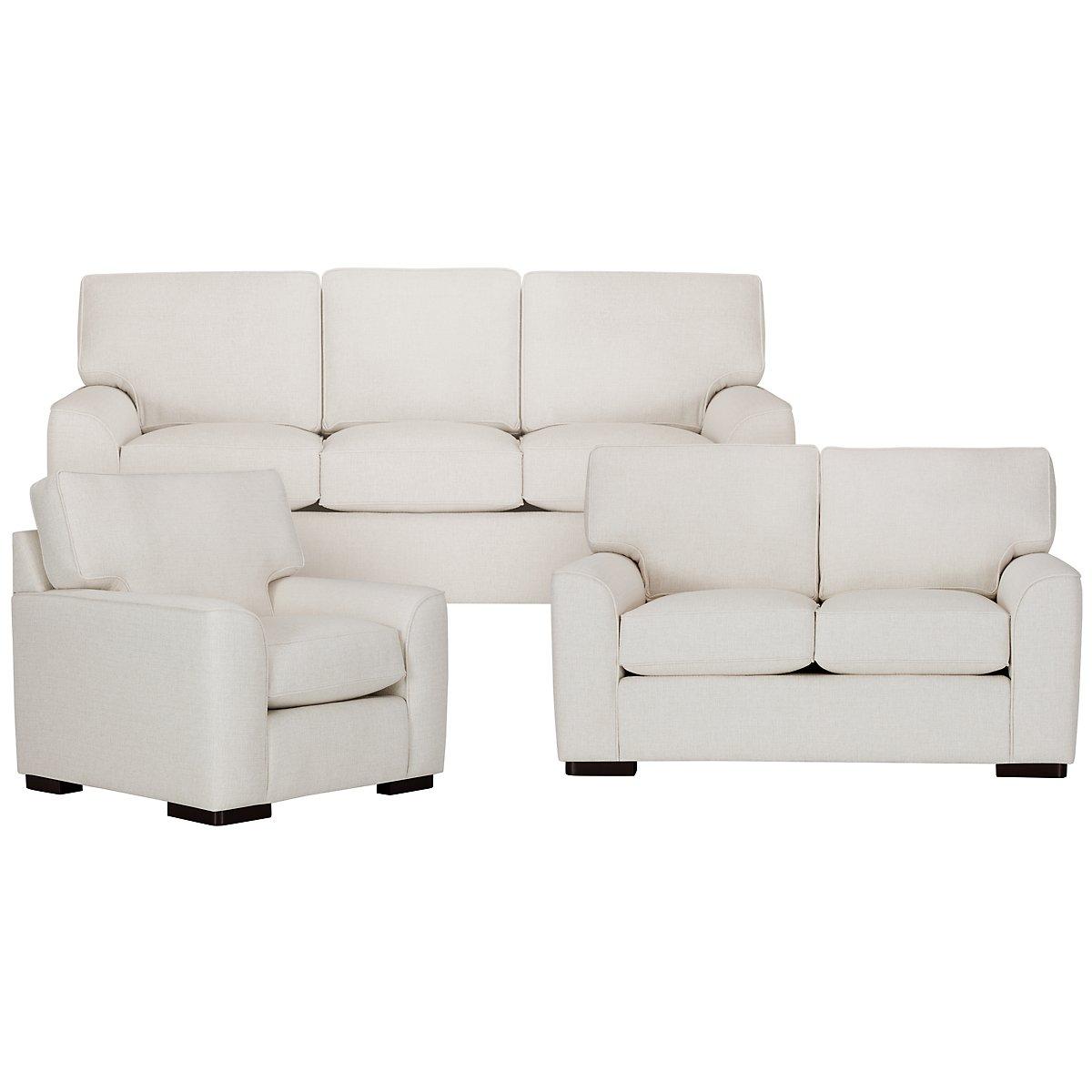Living Room Furniture Austin City Furniture Austin White Fabric Living Room