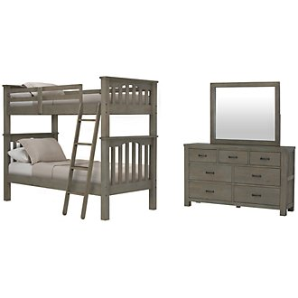 Highlands Light Tone Bunk Bed Bedroom