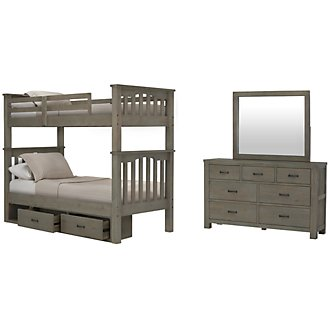 Highlands Light Tone Bunk Bed Storage Bedroom