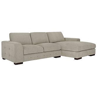 Easton Gray Fabric Right Chaise Sectional