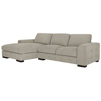 Easton Gray Fabric Left Chaise Sectional