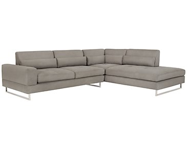 Baldwin Gray Microfiber Right Chaise Sectional