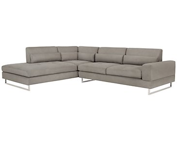 Baldwin Gray Microfiber Left Chaise Sectional