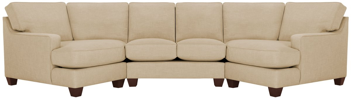 Cozy Home Office City Furniture York Beige Fabric Dual Cuddler Sectional
