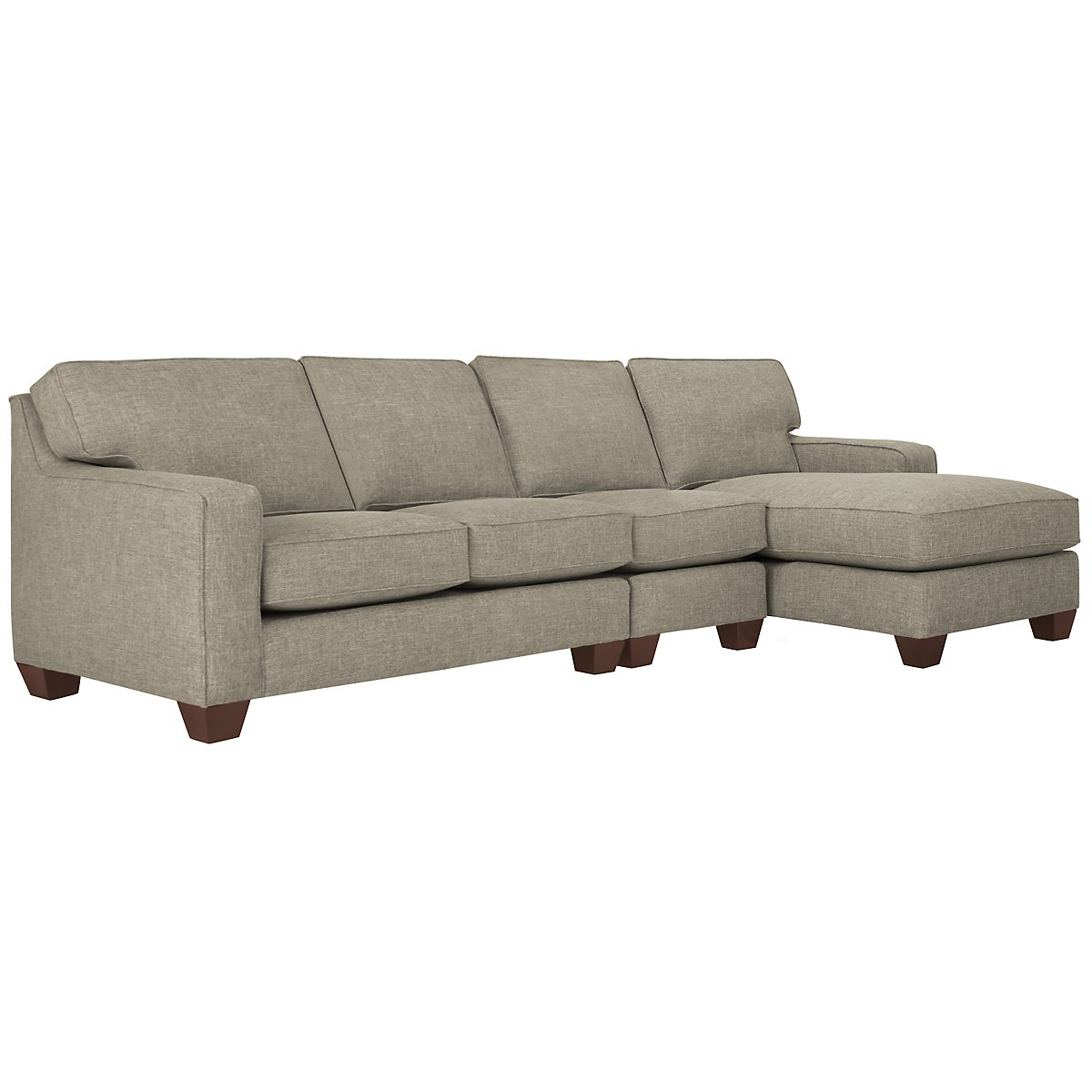 City furniture york pewter fabric medium right chaise for Chaise york