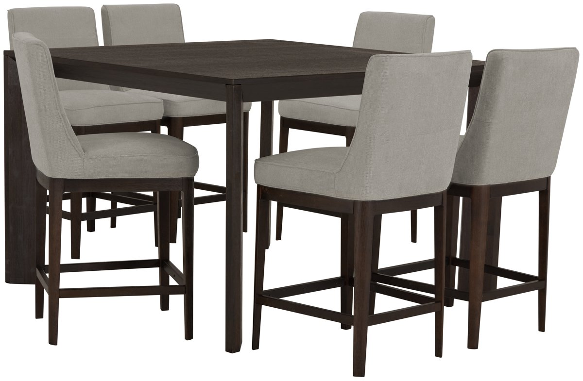 City Furniture Rylan Dark Tone High Dining Table