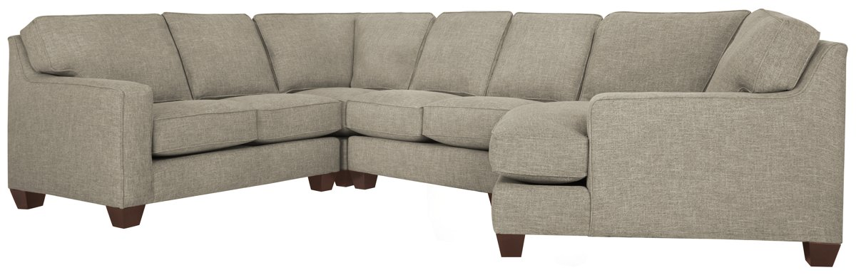 City Furniture York Pewter Fabric Small Right Cuddler