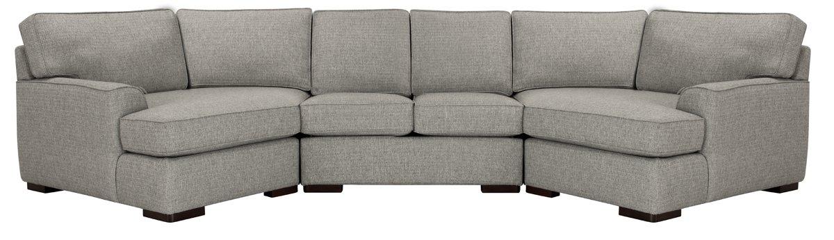 City Furniture Austin Gray Fabric Dual Cuddler Sectional