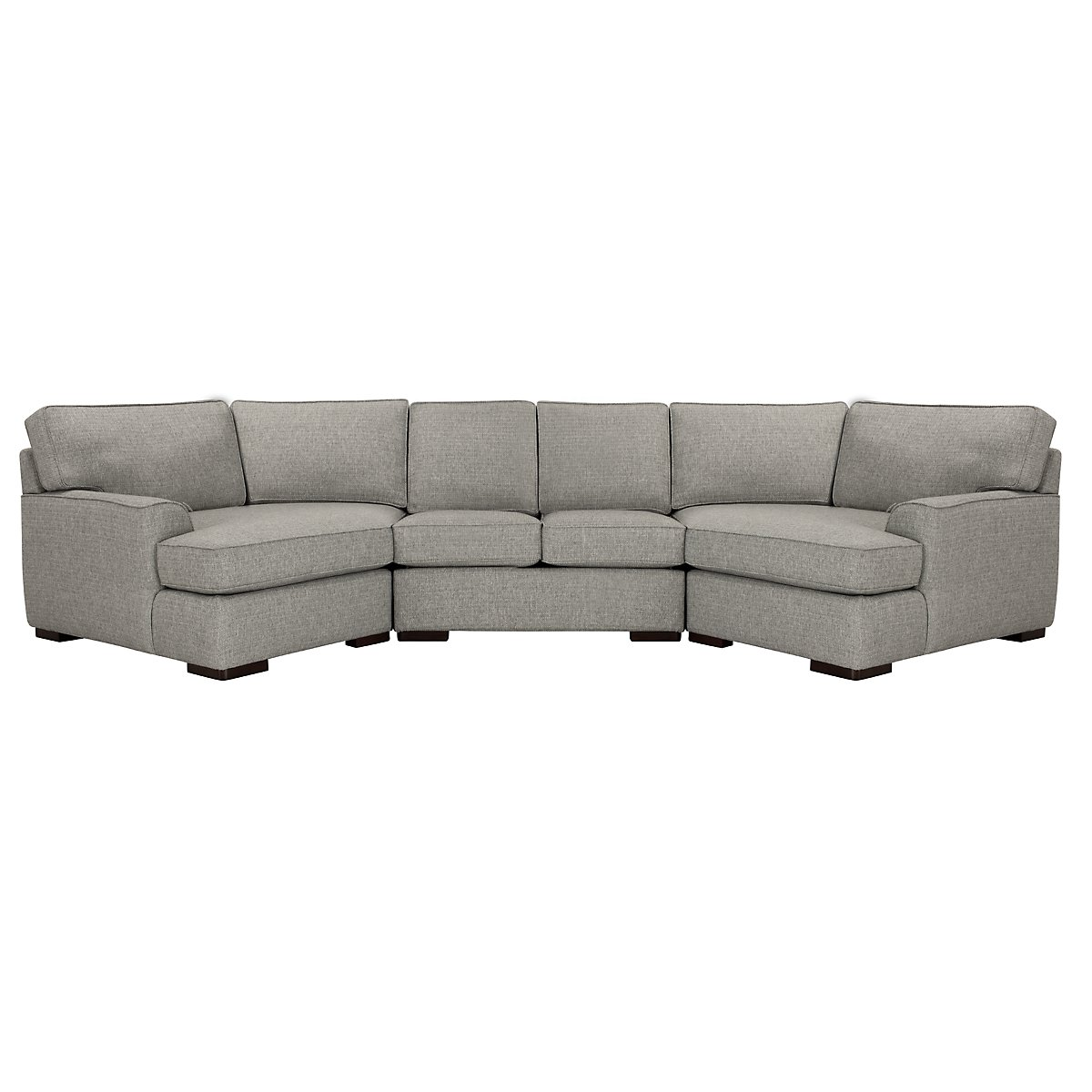 Free Furniture Austin: City Furniture: Austin Gray Fabric Dual Cuddler Sectional