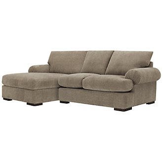 Belair Dark Taupe Microfiber Left Chaise Sectional