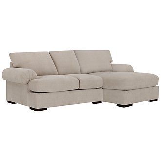 Belair Lt Taupe Microfiber Right Chaise Sectional
