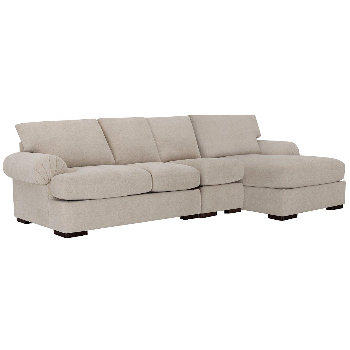 city furniture belair lt taupe microfiber small right. Black Bedroom Furniture Sets. Home Design Ideas