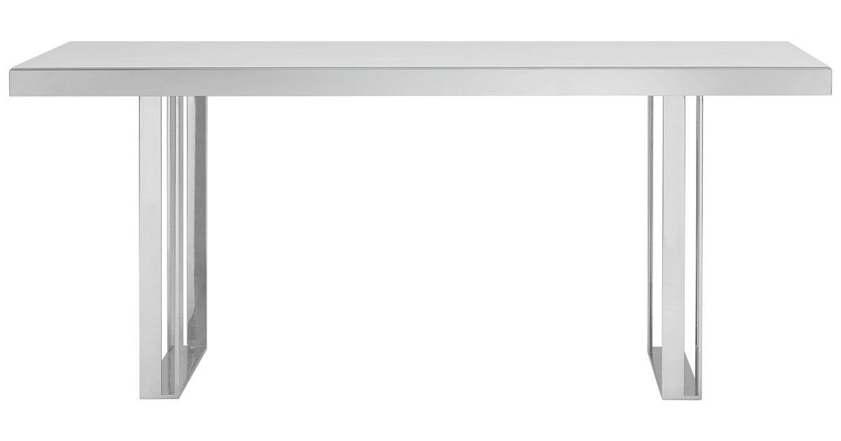 City Furniture Harley White Glass Rectangular Table