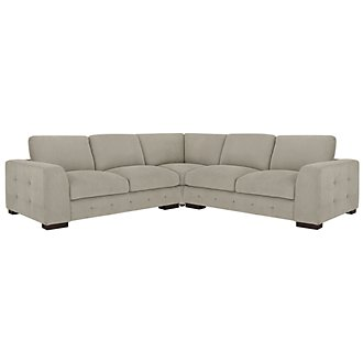 Easton Gray Fabric Small Two-Arm Sectional