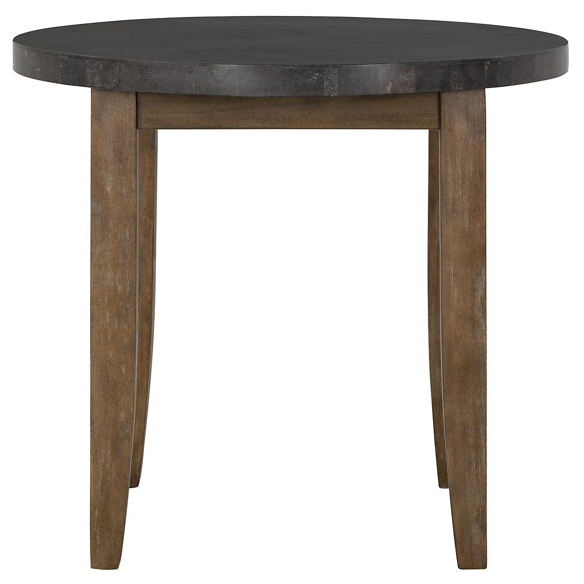 City furniture emmett stone round high dining table for Stone dining table