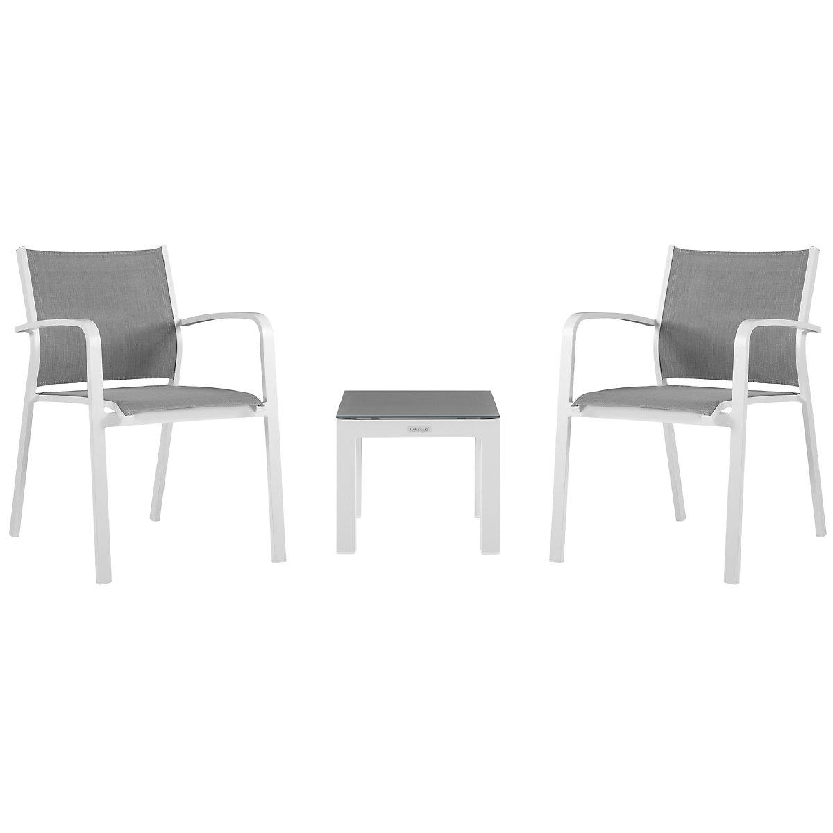 City Furniture Lisbon Gray Sling Chair