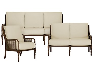 Tradewinds Dark Tone Outdoor Living Room Set