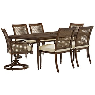 Tradewinds Dark Tone Rectangular Table & 4 Chairs