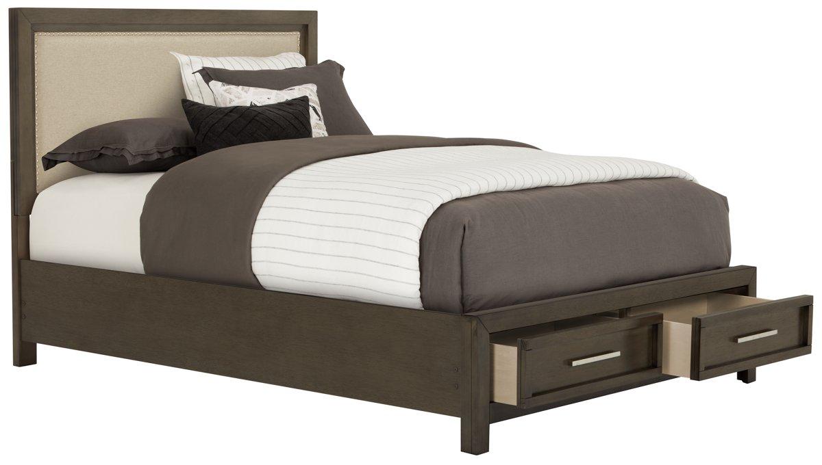 Gray upholstered