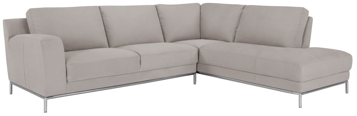 City Furniture Wynn Lt Gray Microfiber Right Chaise Sectional
