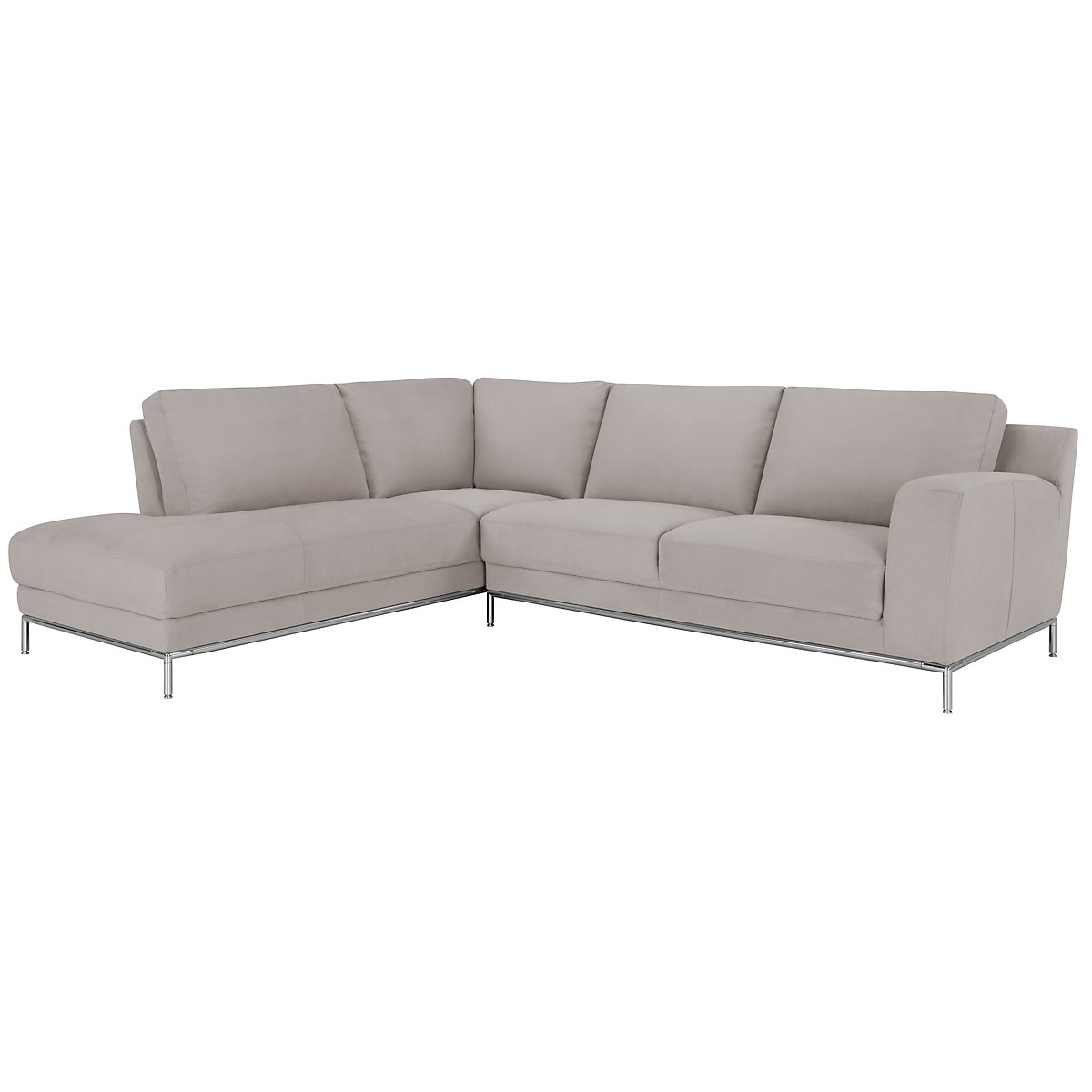 City furniture wynn lt gray microfiber left chaise sectional for Gray microfiber sectional sofa with chaise