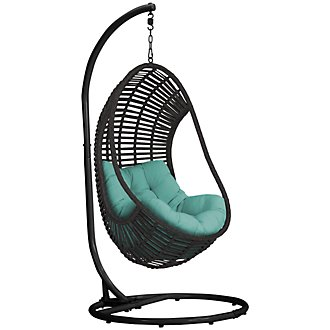 Verano Dark Teal Hanging Chair