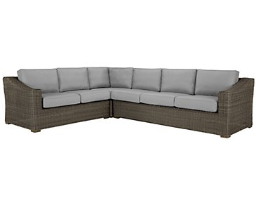 Canyon3 Gray Large Right Sectional