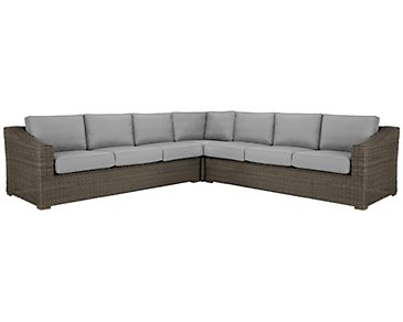 Canyon3 Gray Large Two-Arm Sectional
