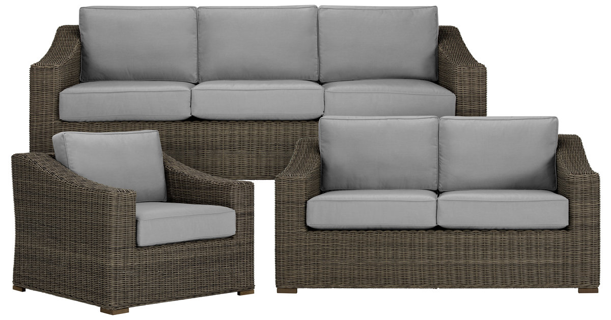 city furniture canyon3 gray outdoor living room set