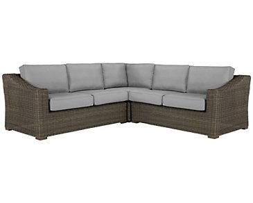 Canyon3 Gray Small Two-Arm Sectional
