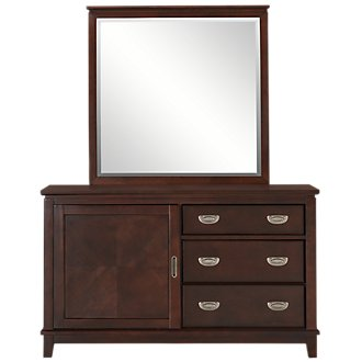 Chad Dark Tone Dresser & Mirror
