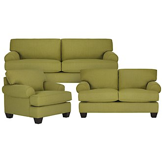 Quinn Lt Green Fabric Living Room