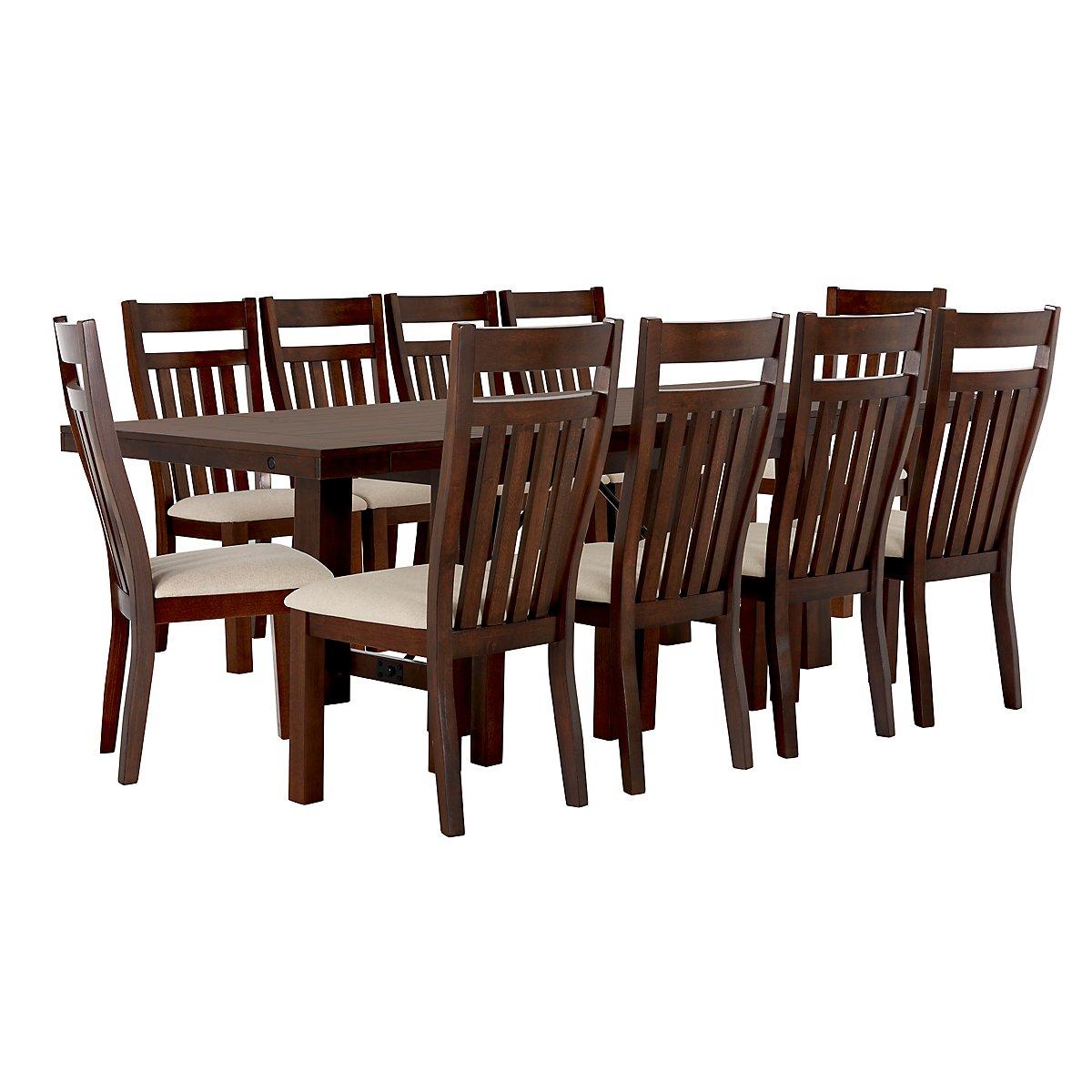 city furniture napa dark tone wood side chair napa dining ta