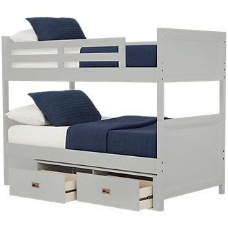 Ryder Gray Storage Bunk Bed