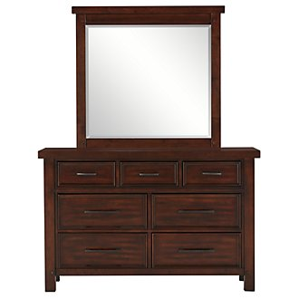 Napa Dark Tone Youth Dresser & Mirror