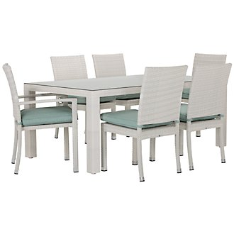 "Bahia Teal 72"" Rectangular Table & 4 Chairs"